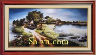 Hand embroidery pictures vietnam 'Landscape (2167)'