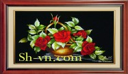Hand embroidery pictures vietnam 'Rose (1078)'