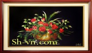 Hand embroidery pictures vietnam 'Rose (1087)'