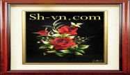 Hand embroidery pictures vietnam 'Rose (1088)'