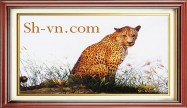 Feng shui hand embroidery 'Panther (2505)'