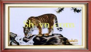 Feng shui hand embroidery 'Tiger (2506)'