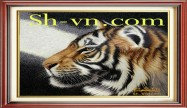 Feng shui hand embroidery 'Tiger (2529)'