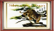 Feng shui hand embroidery 'Tiger (2483)'