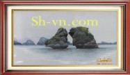Landscapes hand embroidery 'Halong bay vietnam (2437)'