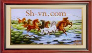 Chinese silk embroidery art 'Feng shui embroidery (1100)'