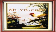 Chinese silk embroidery art 'Feng shui embroidery (2531)'