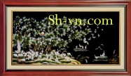 Chinese silk embroidery art 'Feng shui embroidery (2089)'