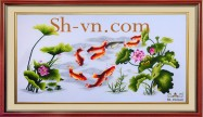 Chinese silk embroidery art 'Feng shui embroidery (1097)'