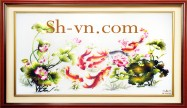 Chinese silk embroidery art 'Feng shui embroidery (1098)'