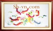 Chinese silk embroidery art 'Feng shui embroidery (1099)'
