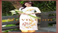 Hand embroidered on Ao Dai 'Model ao dai viet nam (146)'
