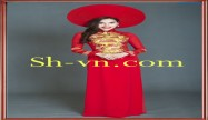 Hand embroidered on Ao Dai 'Model ao dai viet nam (147)'
