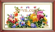Silk embroidered pictures 'SH pattern silk pitures (1049)'