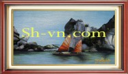 Vietnamese hand embroider pictures 'Pattern silk pitures (4038)'