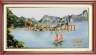 Vietnamese hand embroider pictures 'Pattern silk pitures (4039)'