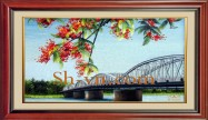 Vietnamese hand embroider pictures 'Pattern silk pitures (4043)'