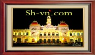 Vietnamese hand embroider pictures 'Pattern silk pitures (4035)'