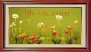Vietnamese silk hand embroider art 'SH silk embroidery (3046)'