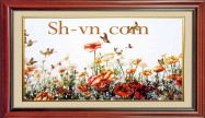 Vietnamese silk hand embroider art 'SH silk embroidery (3047)'