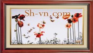 Vietnamese silk hand embroider art 'SH silk embroidery (3048)'