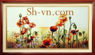 Vietnamese silk hand embroider art 'SH silk embroidery (3049)'