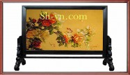 Double sided silk embroidery 'Stitches (2249)'