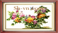 Hand embroidery silk pictures 'Pattern silk pitures (1047)'