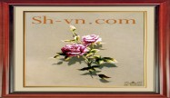 Rose hand embroidery 'Rose embroidery pattern (1163)'