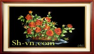 Rose hand embroidery 'Rose embroidery pattern (1064)'