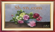 Rose hand embroidery 'Rose embroidery pattern (1091)'