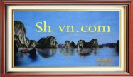 Vietnamese hand embroider pictures 'Halong bay (4538)'
