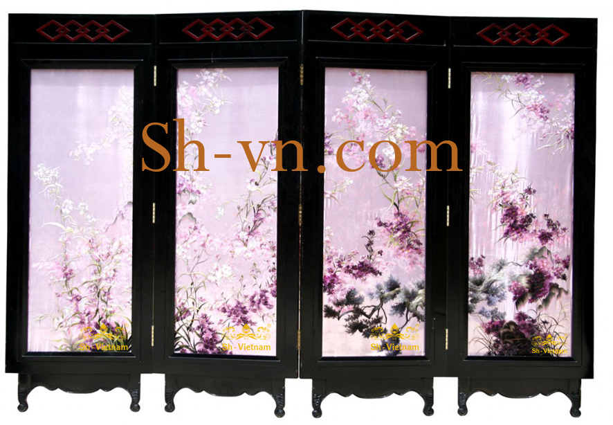 folding screen hand embroidered