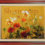 Hand-embroidery-Poppies 38=-SHVN 1038 - 50cm x 70cm. (2)