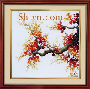 Hand-embroidery-pictures-for-sale-=Cherry-blossom 43=- SHVN 1043 - 65cm x 85cm (2)