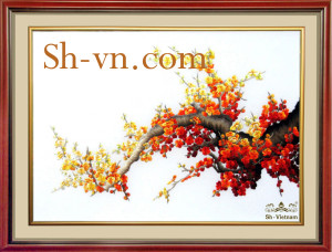 Hand-embroidery-pictures-for-sale-=Cherry-blossom 45=- SHVN 1045- 70cm x 90cm (2)