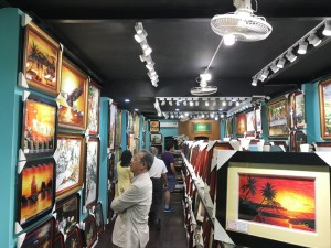 Many beautiful silk hand embroidery pictures are displayed at SH Vietnam